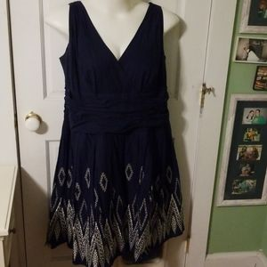 S.L. Fashions navy dress
